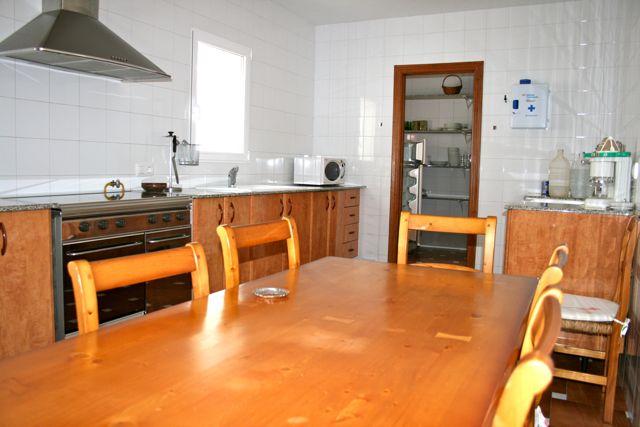 "Facilities at ""Los Claros"". Kitchen Casa Francisquillo"