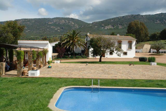 """Facilities at """"Los Claros"""". Swimming pool and garden"""