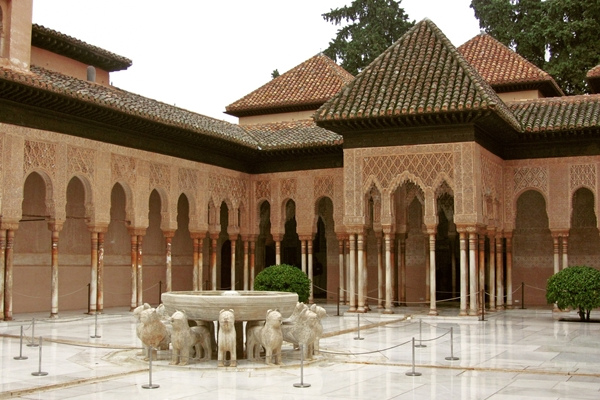 Tourism and hunting. Alhambra. Granada